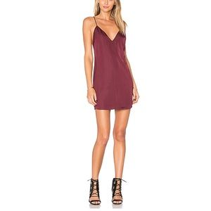 Lovers + Friends burgundy slip dress size XS